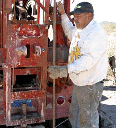 the drilling machine