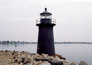 US-CT Bridgeport Breakwater lighthouse