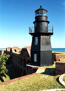 US-FL Fort Jefferson lighthouse