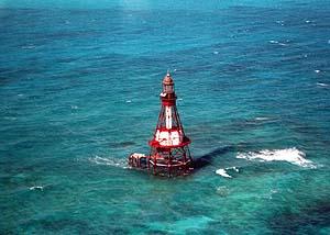 US-FL Fowey Rocks lighthouse