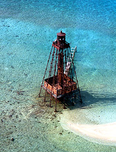 US-FL Sand Key after the fire in 1989